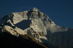 Late afternoon in Ronguk reveals the north face of Everest; or Chomolungma how it is called by Tibetans.